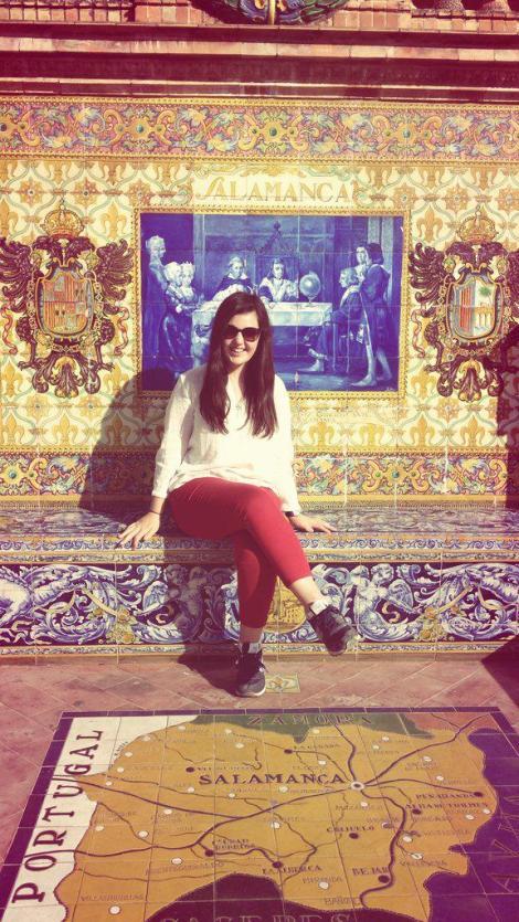 Me at the Plaza de España, Sevilla