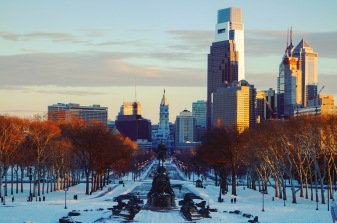 Philly from the Rocky Steps