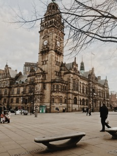 The Sheffield Town Hall Clock Tower