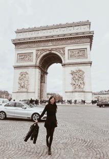 At the Arc de Triomphe in Paris
